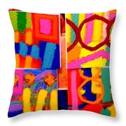 Painting Collage I Throw Pillow