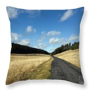 Tableland With Road Throw Pillow