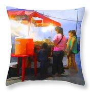 Taco Stand San Felipe Throw Pillow
