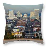 Tacoma City Of Destiny Throw Pillow