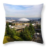 Tacoma Dome And Auto Museum Throw Pillow