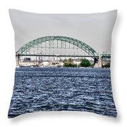 Tacony Bridge Throw Pillow