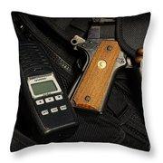 Tactical Gear - Gun  Throw Pillow