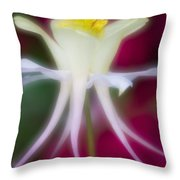 Tadpole Flower Throw Pillow