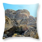 Tagged Rocks Throw Pillow