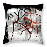 Tagged Window Throw Pillow