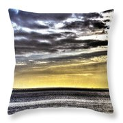 Big Clouds Over Tagus River Throw Pillow