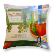 Tahiti Nui Throw Pillow