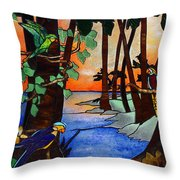 Tahiti Window Throw Pillow