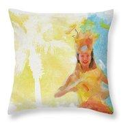 Tahitian Dancer Throw Pillow