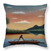 Tahitian Morning Throw Pillow