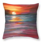 Tahitian Sunset Throw Pillow