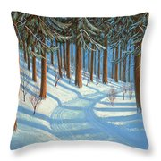 Tahoe Forest In Winter Throw Pillow