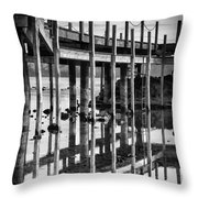 Tahoe Pier Reflection Throw Pillow
