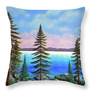 Tahoe Pines Throw Pillow