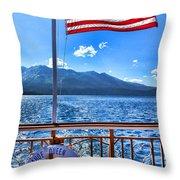 Tahoe Queen Lake Tahoe By Diana Sainz Throw Pillow