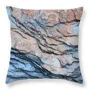 Tahoe Rock Formation Throw Pillow by Carol Groenen