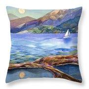 Tahoe Tides Throw Pillow by Jen Norton