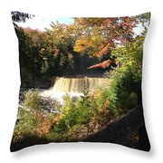 Tahquamenon Falls With My Iphone Throw Pillow