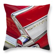 Tail Fins Are In 1957 Chevy Throw Pillow