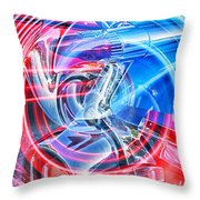 Tail Light Abstract Throw Pillow