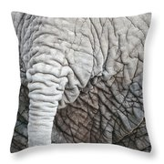 Tail Of African Elephant Throw Pillow