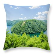 Tail Of The Dragon Scenic Road In Great Smoky Mountains Throw Pillow
