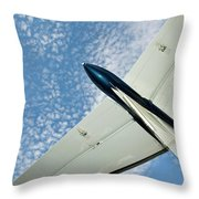 Tail Of The Airplane Throw Pillow