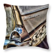Taillight 1957 Chevy Bel Air Throw Pillow