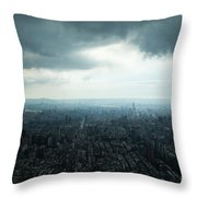 Taipei Under Heavy Clouds Throw Pillow