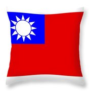 Taiwan Flag Throw Pillow