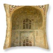 Taj Mahal Close Up Throw Pillow