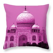 Pink Taj Mahal, Agra, India Throw Pillow