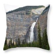 Takakkaw Falls Throw Pillow