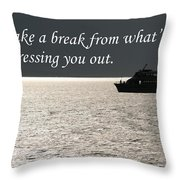 Take A Break From Throw Pillow