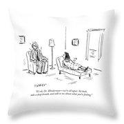 Take A Deep Breath Throw Pillow