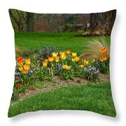 Take A Deep Breath Of Springtime Throw Pillow