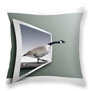 Take A Gander Throw Pillow