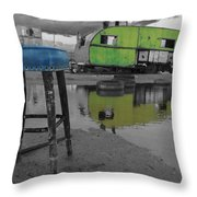 Take A Seat And Wait Ill Be Right With You Black And White Throw Pillow