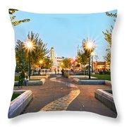 Take A Walk Downtown  Throw Pillow