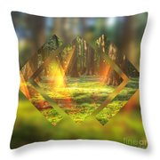 Take Me To The Magic Forest Throw Pillow