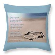 Take Me To The Ocean Blue Throw Pillow