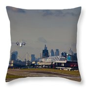 Take Off From London Throw Pillow