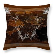 Take The Bull By Its Horns Throw Pillow