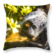 Take Time To Smell The Flowers Throw Pillow