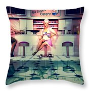 Taking A Break Throw Pillow