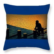 Taking In The Day Throw Pillow