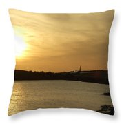 Taking Off Into The Sunset Throw Pillow