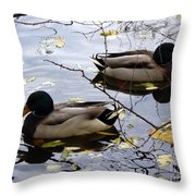 Taking Opposite Directions Throw Pillow