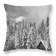 Taking Refuge - Grand Teton Throw Pillow by Sandra Bronstein